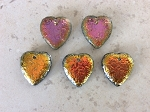 23 x 24mm Czech Crystal Hand-cut Acid Wash Heart with Marea Finish - 1 pc.