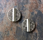 15mm Pewter Thai Hill Tribe Style Bead – Antique Silver-Plated – 2 pcs.