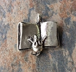 "22 x 23mm Pewter ""Dream Big"" Mouse with Book Pendant – 1 pc."