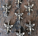 18 x 26mm Pewter Fairy Charm – Antique Silver Plated - 1 pc.