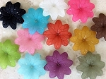 36mm Resin Flower – Assorted Colors – 3 pcs.