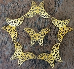 25 x 39mm Brass Stamped Butterfly - 1 pc.