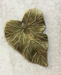26 x 24mm Pewter Leaf - Antique Brass - 1 qty.