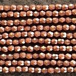 4mm Czech Fire Polish - Matte Copper - 50 qty. - BB