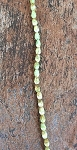 4 x 6mm Czech Fire Polish Drop - Olive Opal Travertine - 30 pcs.