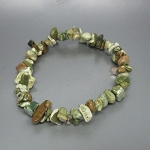 5-6 mm Rhyolite Chips Stretch Bracelet Approx 50 beads
