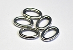 9 x 14mm Pewter Oval Connector - Antique Silver - 5 qty.