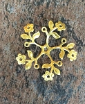 30-40mm Brass Stamping - Floral - 1 pc.