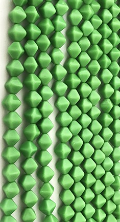 Lucerna Bicone Beads - Opaque Spring Green, 6x6mm