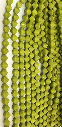 Lucerna Bicone Beads - Opaque Chartreuse, 6x6mm