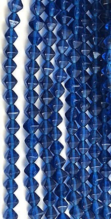 Lucerna Bicone Beads - Electric Blue, 6x6mm