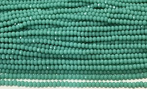 Chinese Crystal Rondelle Beads - Seafoam Opal, 2x3mm - 1 strand