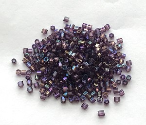 Size #1 Bugle Beads – Purple Iris – 3 tubes