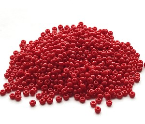 Size 11 Seed Beads – Opaque Red – 3 tubes