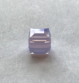 8mm Swarovski Cube - Rose Water Opal - 1 qty.