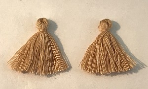 "1"" Cotton Tassel - Taupe - 2 qty."