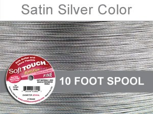 SOFT TOUCH WIRE .014 DIA. 10 FT. 21 STRAND PREMIUM SATIN SILVER