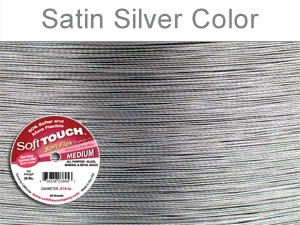 SOFT TOUCH WIRE .019 DIA. 30 FT. 49 STRAND PREMIUM SATIN SILVER