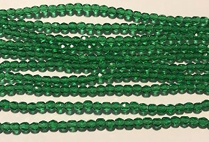 4mm Czech Fire Polish - Emerald Green - 50 qty. -