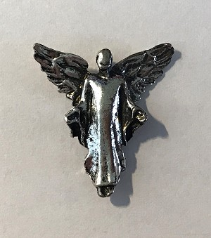 20 x 19mm Pewter Angel Charm – Antique Silver – 1 qty.