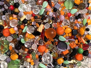 1LB Czech Mix Beads - Harvest Moon