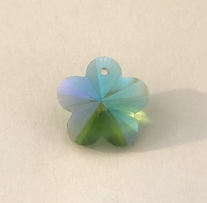 17mm Chinese Crystal Flower – Peridot AB - 1 qty.