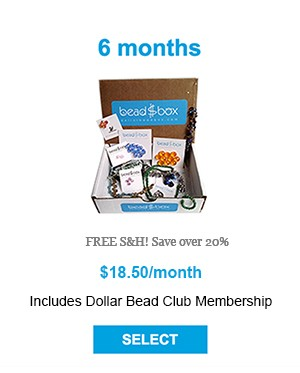 6 Month Box - FREE S&H! Save over 20% - Includes Dollar Bead Club Membership