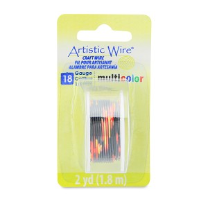 Artistic Wire 18 Gauge 1.0 mm 2 Yards Multicolor Red, Gold and Black