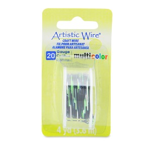 Artistic Wire 20 Gauge 0.81 mm 4 Yards Multicolor Silver, Black and Green