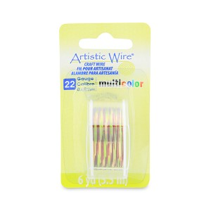 Artistic Wire 22 Gauge 0.64 mm 6 Yards Multicolor Brown, Green and Gold