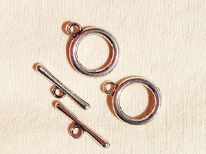 16 x 20mm Silver-plated Toggle - 2 qty.