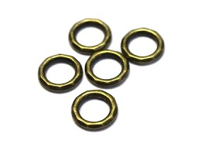 12mm Pewter Ring Connector - Antique Brass - 5 qty.