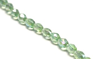 4 x 6mm Chinese Crystal - Peridot AB - 35 qty.