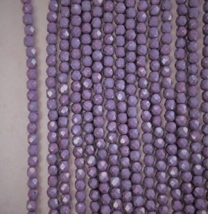 3mm Czech Fire Polish - Purple Metallic Copper Luster - 50 qty. - BB