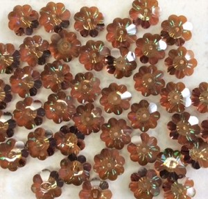 12mm Swarovski Margarita Bead 3700 - Crystal Copper Unfoiled - 2 pcs.