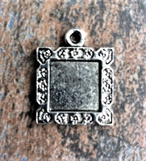18mm Pewter Resin Blank – Silver-Plated – 1 pc.