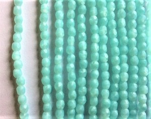 3mm Czech Fire Polish - Matte Opaque Light Green - 50 qty. - BB