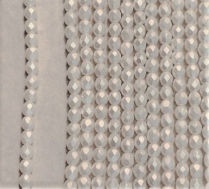 4mm Czech Fire Polish - Pearlized White - 50 Qty. BB
