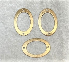 16 x 22mm Oval Connector – Brushed Brass – 2 pcs.