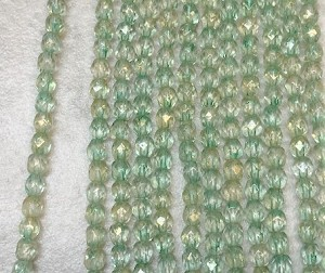 3mm Czech Fire Polish - Gold Sage Luster - 50 qty. - BB