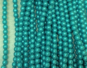 4mm Czech Glass Pearl – Teal – 40 pcs.
