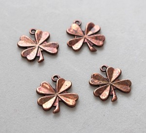 15 x 17 Pewter Shamrock - Antique Copper - 4 qty.